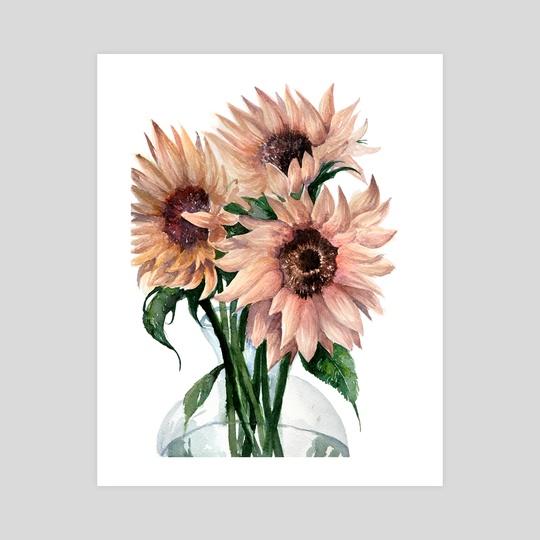 Sunflower III by Paulina Navarro