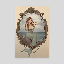 The Little Mermaid - Canvas by Jasmin Darnell