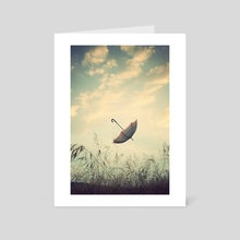 Dreamy Umbrella - Art Card by Adrian Limani
