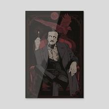 Poe - Acrylic by Hafaell Pereira