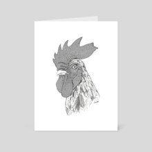 Rooster - Art Card by Chris Cerrato