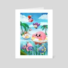 Kirby's Beach Land - Art Card by Rachel Shneyer