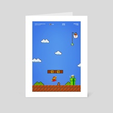 Typical Mario Scene - Art Card by Brandon Billaut