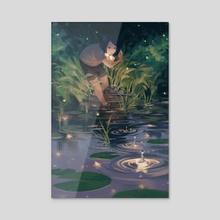 Skipping Stars - Acrylic by Rebecca Shieh