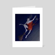 Flying - Art Card by Jude Davis