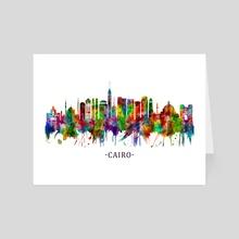 Cairo Egypt Skyline - Art Card by Towseef Dar