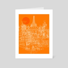 Paris - Tango - Art Card by David Bushell