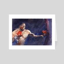 The Boxer - Art Card by Audran Guerard