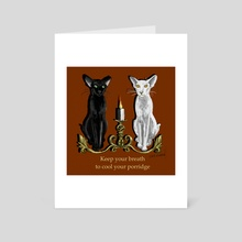 Cool Cats - Art Card by Lyle O'Mara