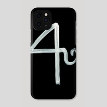 Alchemical Symbols - Alkali Inverted - Phone Case by Wetdryvac WDV