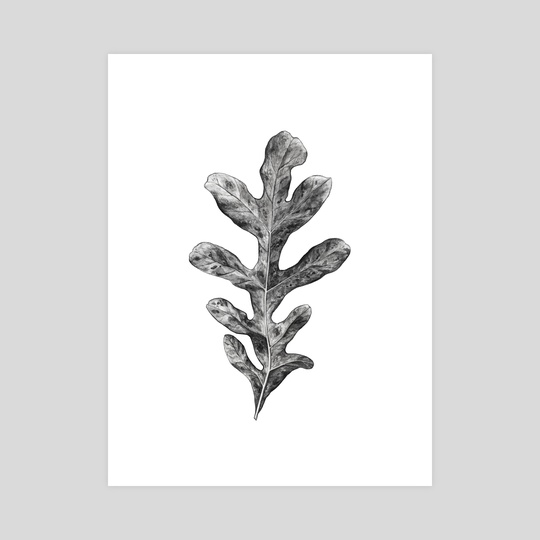 Watercolor leaf by Nika