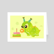 Baby caterpillar 2 - Art Card by pikaole