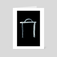 Alchemical Symbols - Potash Inverted - Art Card by Wetdryvac WDV