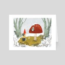Wee Folk Mary Grotto - Art Card by a creative almanac