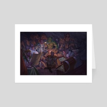 A Hero's Gathering - Art Card by Tamires Para