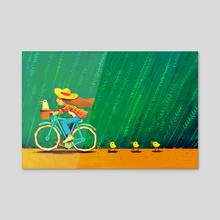 Duck Trail - Acrylic by Carlotta Notaro