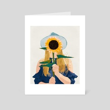 Miss Sunflower V2 - Art Card by 83 Oranges