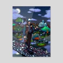 Midnight Stroll - Acrylic by Maverick Chavaria & Cecilia Salisbury