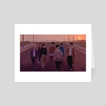 "iKON ""Goodbye Road"" - Art Card by milkyopi"