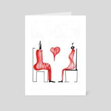 Always together - Art Card by Jorge Heilpern
