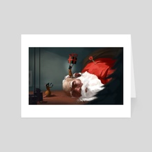 Take that Santa - Art Card by Tom Cech