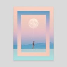 Moon Walker - Canvas by Enkel Dika