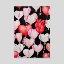 Heart Balloons - Canvas by Jasminnows