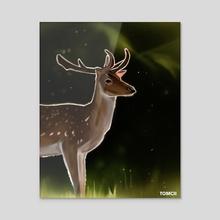 Deer 2 - Acrylic by Tomcii Art
