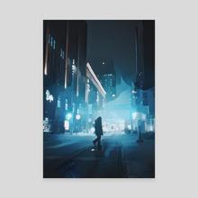 Lonely - Canvas by Kobra Kryptic