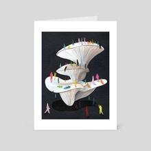 Mushroom Party - Art Card by Jonathan Wolfe