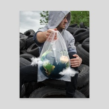 Earth in Plastic - Canvas by Simon Pánek