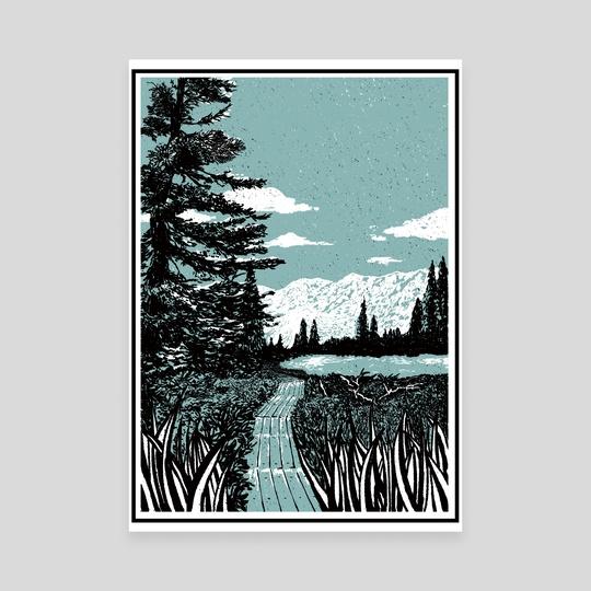 Road to Lake by Itoko Nakahara