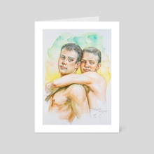 Portrait of two men#19117 - Art Card by Hongtao Huang