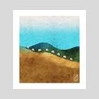 Sheep - Art Print by Jago Silver