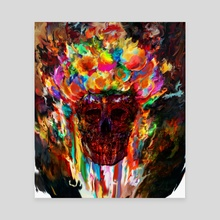 colorful skull - Canvas by Maxim G
