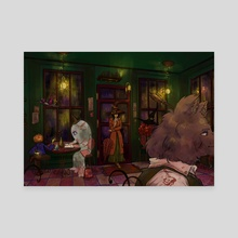 Mysterious Cafe (Without Words) - Canvas by Kayumi Le