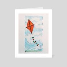 Go Fly a Kite - Art Card by Sarah Blakeman