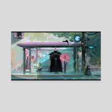 Bus Stop - Canvas by Ross Tran