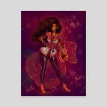 Sailor Mars - Canvas by Odera Igbokwe