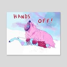 HANDS OFF! - Acrylic by Vin Mugavero