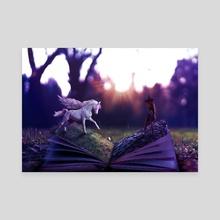 The magic book - Canvas by dyartasya
