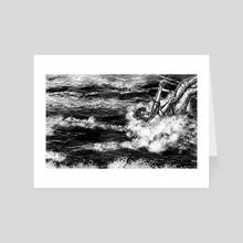 Into the Ocean - Art Card by Hannah Carle