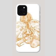 Gold Orchid I - Phone Case by Paulina Navarro