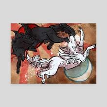 Okami Style: The Perfect Balance - Canvas by Aleksandra Popowicz