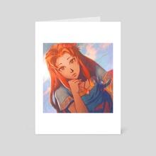 Red Sunrise - Art Card by Janice Scott
