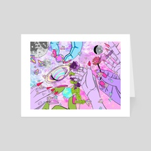 Touching Worlds - Art Card by Jahla Brown