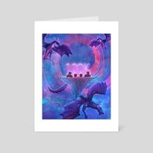 The Dragon Island  - Art Card by Lia PS Art