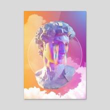 Head Of David - Acrylic by Daniel Mikołajczak