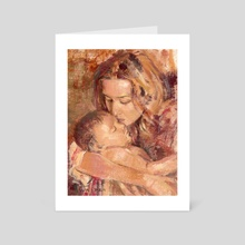 A Mother's Touch - Art Card by Kevin Wasden