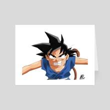 Goku GT - White - Art Card by Bernhard Pakendorf